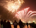 PHOTO: Fireworks burst over Boston Common, Dec. 31, 2010, as part of the First Night Celebration.