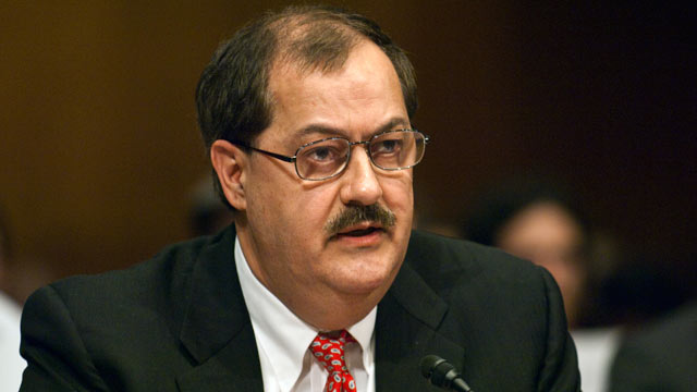 PHOTO: Don L. Blankenship, chairman and CEO of Massey Energy Co., appears before a Senate Appropriations Subcommittee on mine safety in this May 20, 2010 file photo.