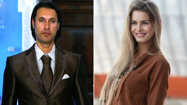 PHOTO: Mutassim Qadhafi, left, of Libya walks toward the media for a photo-op at the Department of State April 21, 2009 in Washington, DC. Vanessa Hessler poses durind the press conference of Roma Fiction Fest, Sept. 23, 2011 in Rome, Italy.