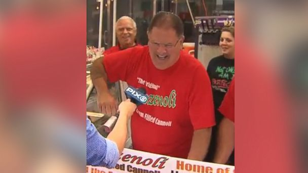 PHOTO: Joseph Marrone appeared on the local television station PIX 11 working a cannoli stand during the San Genaro festival in Manhattan, according to prosecutors who cited the image in court documents.