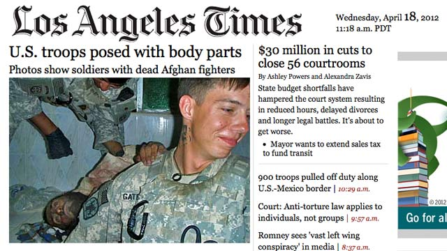PHOTO: L.A. Times front page