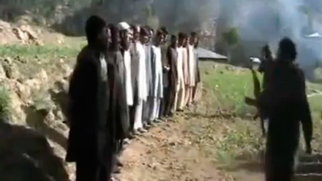 PHOTO: This video shows the execution of more than a dozen Pakistani policemen who were captured during the fighting.