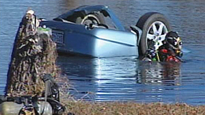 PHOTO Four people were killed on December 26th last year when a 2008 Toyota Avalon crashed through a fence and landed upside down in a pond in Southlake, TX.