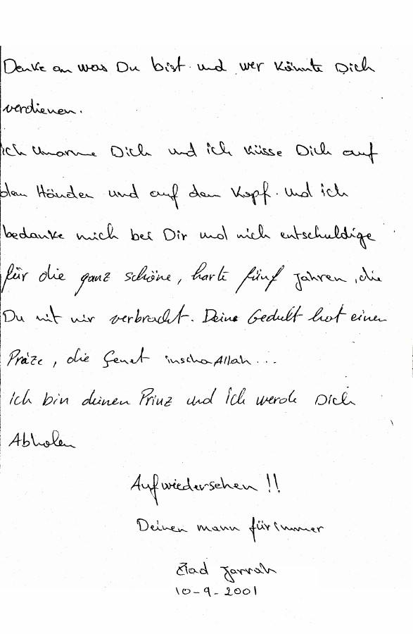 Ziad Jarrahs Farewell Letter to His Girlfriend ABC News