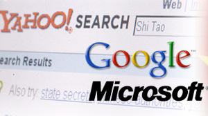 Yahoo!, Google and Microsoft free speech