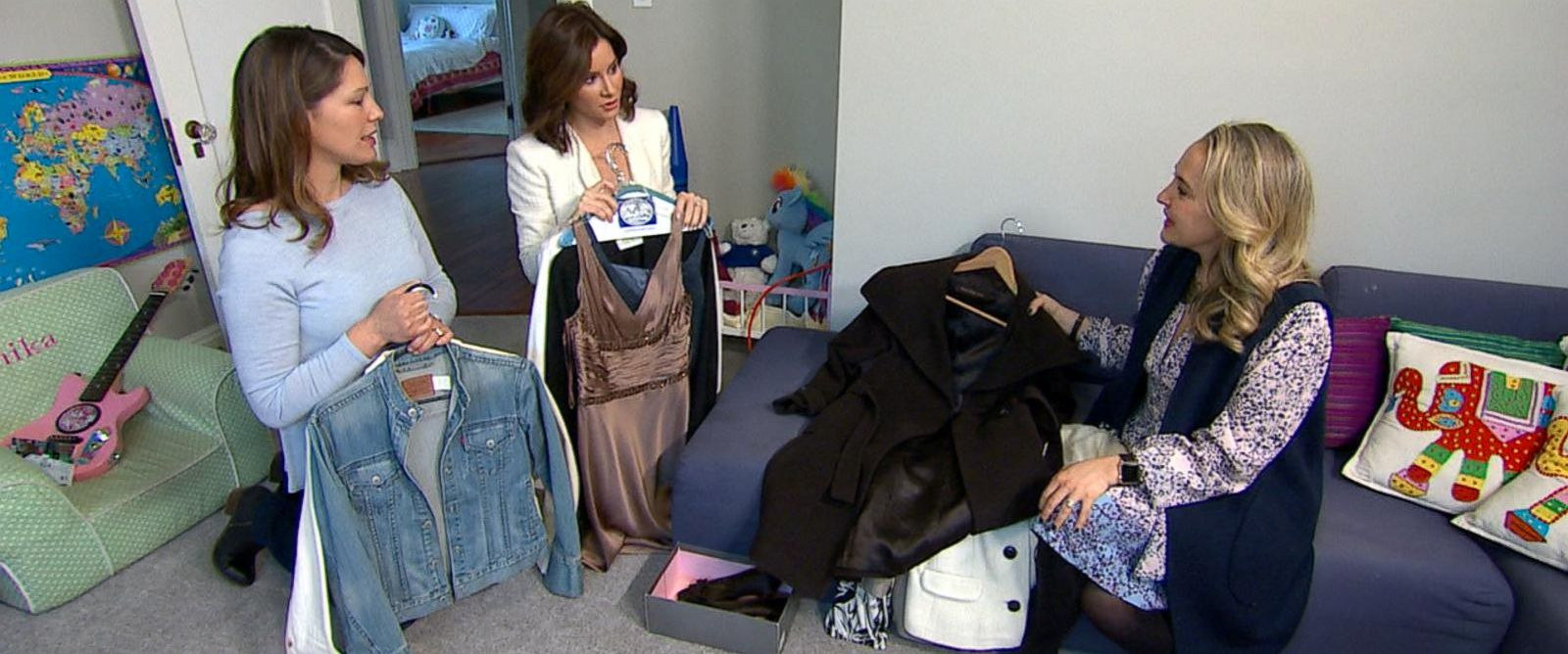 PHOTO: CEO Alexa Von Tobel visited Eliza Danielson in Morristown, N.J., to share tips on turning old clothing and electronics into hard, cold cash.