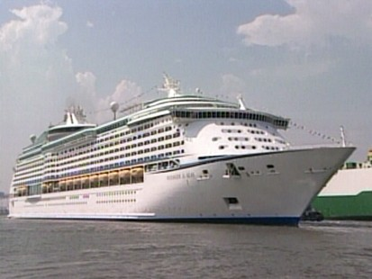 VIDEO: Criticism follows as Royal Caribbean ship docks on the quake-ravaged island of Haiti.