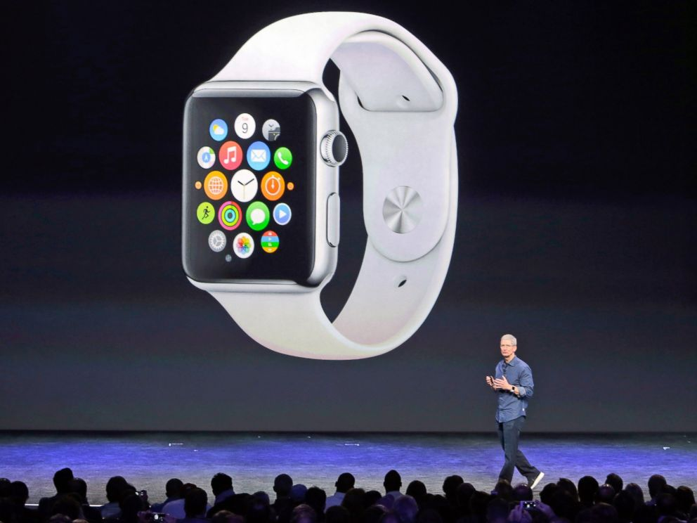 PHOTO: Apple CEO Tim Cook introduces the new Apple Watch, Sept. 9, 2014, in Cupertino, Calif.
