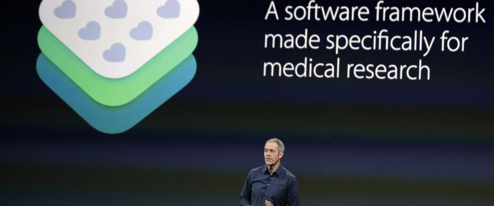 PHOTO: Apple Vice President of Operations Jeff Williams discusses ResearchKit