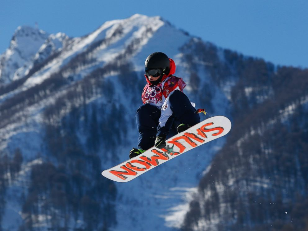 PHOTO: Britains Jamie Nicholls takes a jump during the mens snowboard slopestyle final at the Rosa Khutor Extreme Park, at the 2014 Winter Olympics, Feb. 8, 2014, in Krasnaya Polyana, Russia.
