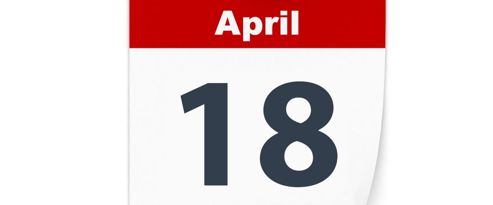 PHOTO: April 18,Tax Day, is displayed on a calendar.