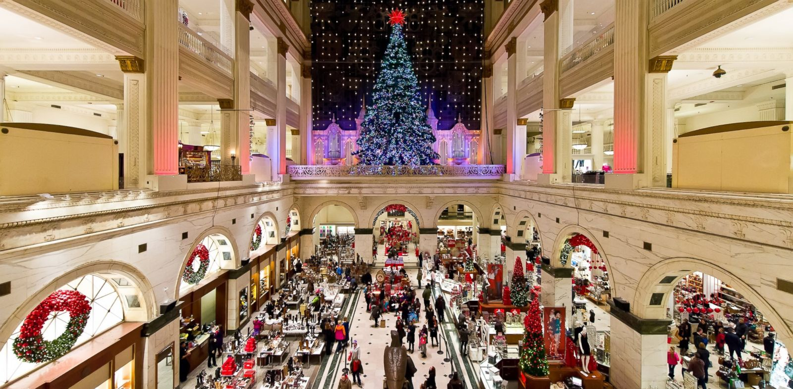 PHOTO: A general view of the Christmas Tree at Macys Center City, Dec. 20, 2013, in Philadelphia.