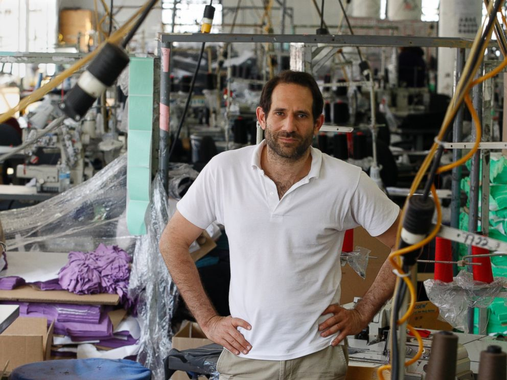 PHOTO: Dov Charney, Senior Partner of American Apparel, is photographed at the factory in downtown Los Angeles, April 3, 2012.