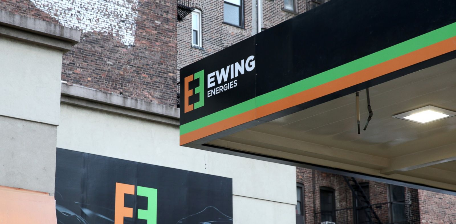 "PHOTO: The Ewing Energies flagship gas station, created to promote TNTs ""Dallas,"" is pictured in New York City on Feb. 24, 2014."