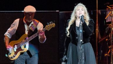PHOTO: John McVie, Stevie Nicks and Mick Fleetwood of Fleetwood Mac perform live during a concert at the O2 World, Oct. 16, 2013, in Berlin.