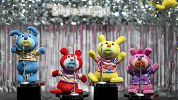 PHOTO: Fisher-Price Sing-a-ma-jigs dolls are displayed at Toy Fair 2010 in New York, Feb. 14, 2010.