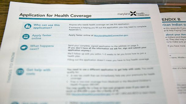 PHOTO: health insurance marketplace application
