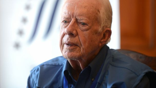 PHOTO: Former president Jimmy Carter speaks during an interview with AFP in Kathmandu, Nepal, Nov. 20, 2013.