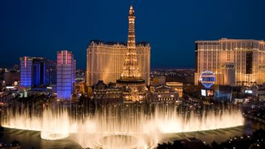 PHOTO: In this file photo, the Bellagio Fountain, Ballys and Paris Casinos are pictured in Las Vegas.