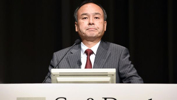 PHOTO: Softbank president Masayoshi Son speaks during a press conference announcing the companys financial results in Tokyo, Aug. 8, 2014.