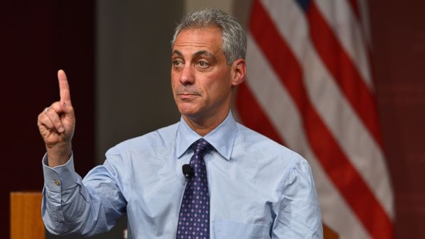 PHOTO: In this file photo, Rahm Emmanuel is pictured on Oct. 18, 2013 in Cambridge, Mass.