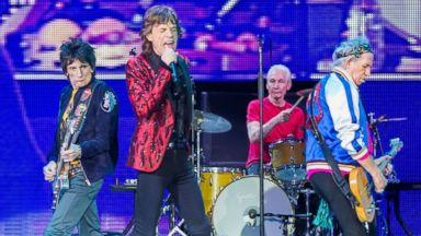 PHOTO: Ronnie Wood, Charlie Watts, Keith Richards and Mick Jagger of The Rolling Stones perform at the CotaiArena, March 9, 2014, in Beijing.