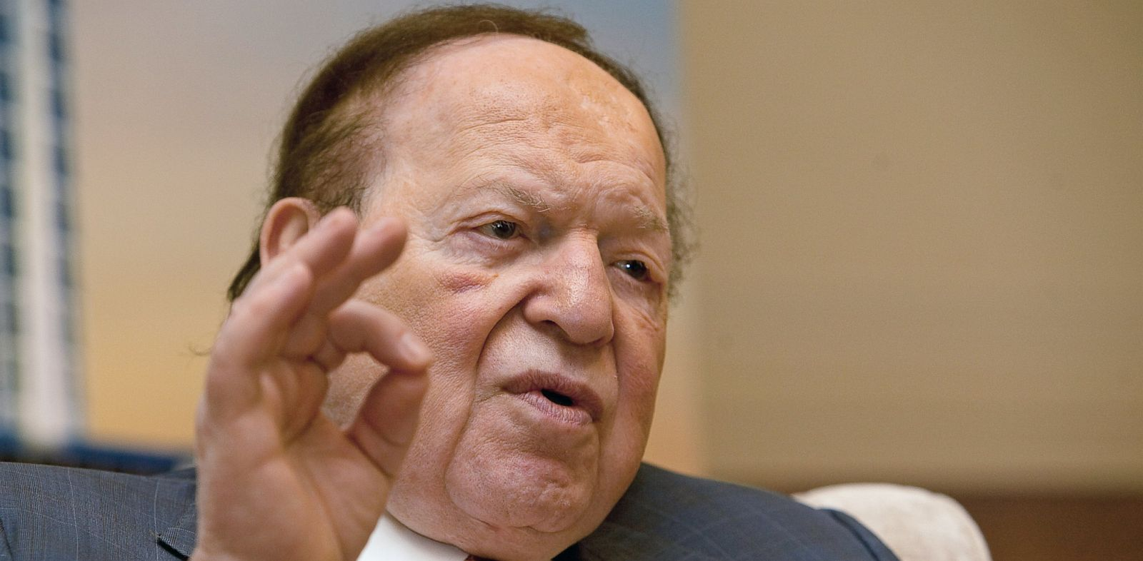 PHOTO: Las Vegas Sands Corp. CEO Sheldon Adelson speaks during a news conference in Macau, China, in this Sept. 20, 2012 photo.