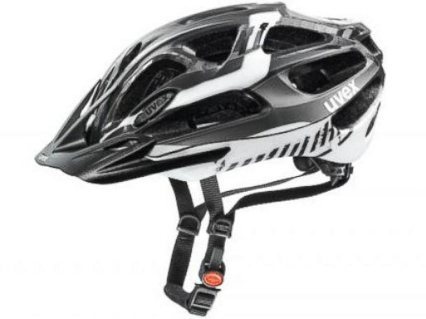 PHOTO: A UVEX Sports bicycle helmet.
