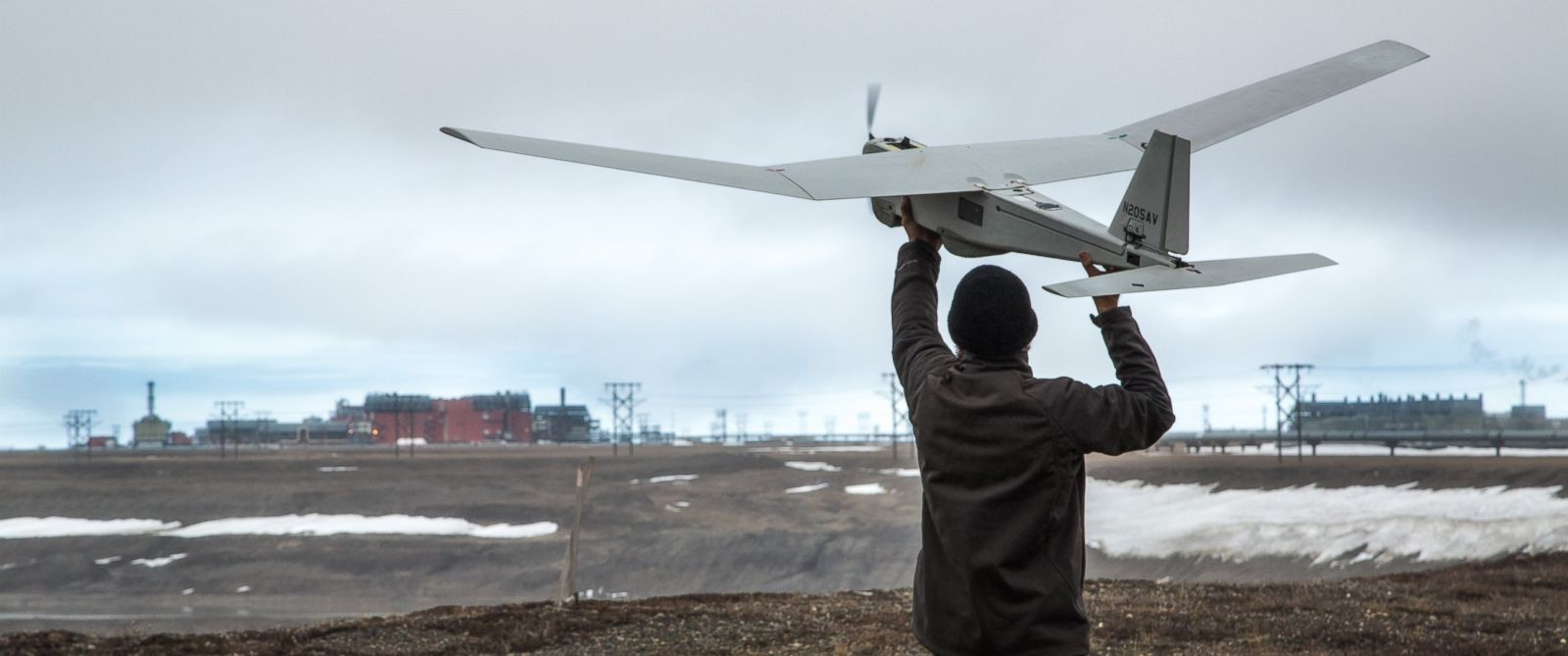 PHOTO: The Federal Aviation Administration has given AeroVironment and BP approval for the first commercial drone flight over land.