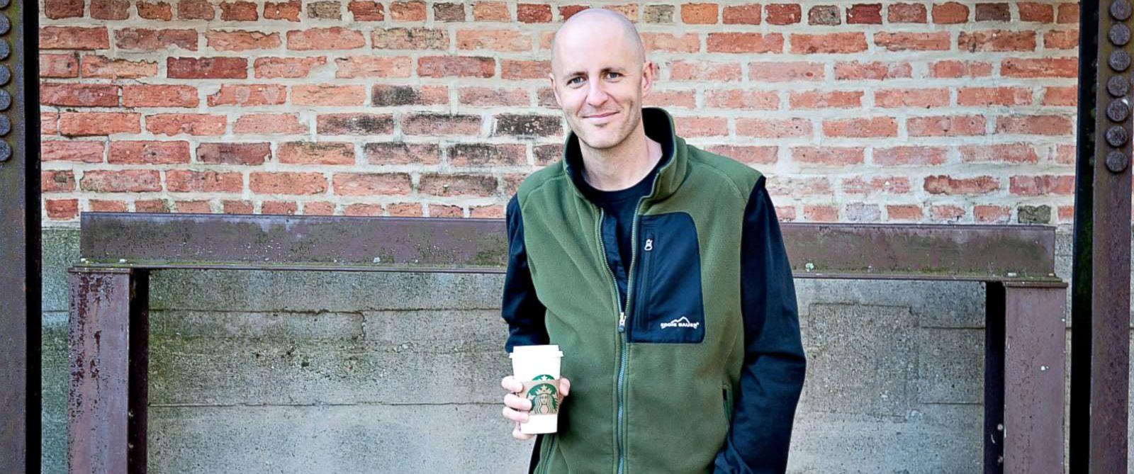 PHOTO: Brian Gardner said he is preparing for Starbucks price hike.