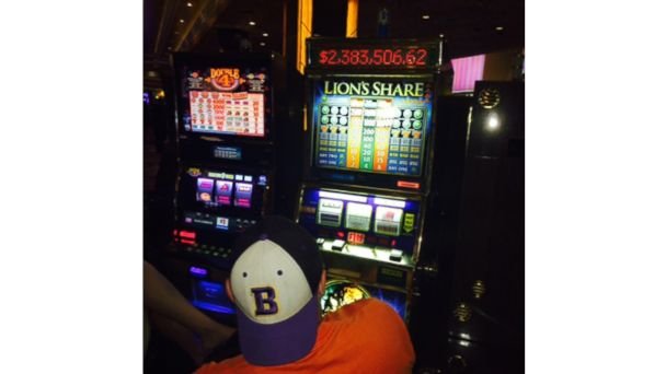 PHOTO: A Lions Share slot machine.