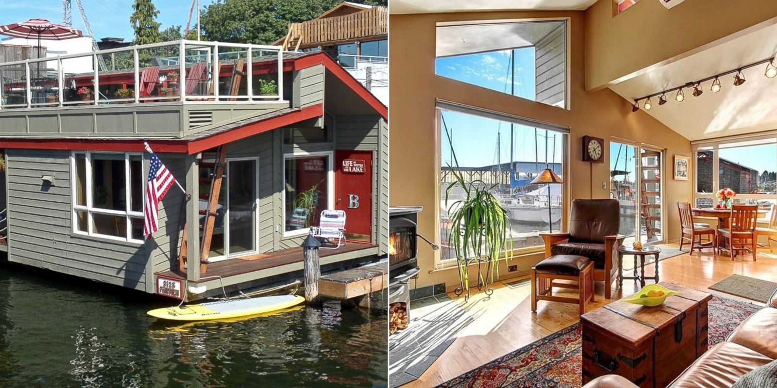 Floating homes on sale for every budget photos image 7 abc news - Floating house seattle ...