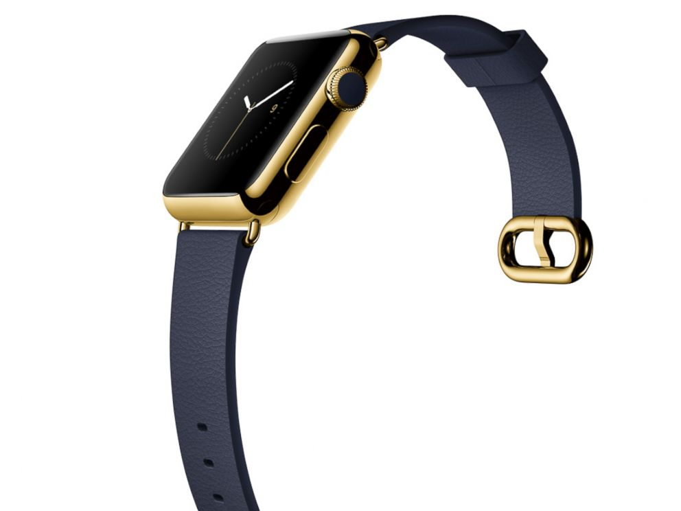 PHOTO: Apple Watch in yellow gold