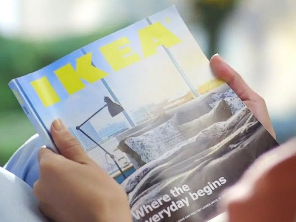 PHOTO: The 2015 IKEA Catalogue is seen in this still from a YouTube video titled Experience the power of a bookbook.