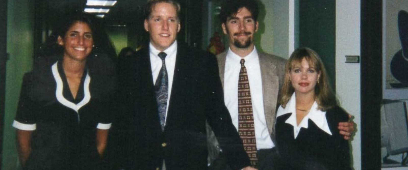 PHOTO: Advertising interns in 1995.