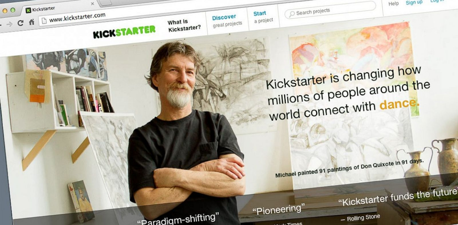 PHOTO: Since 2009, Kickstarter has funded 48,000 creative projects.