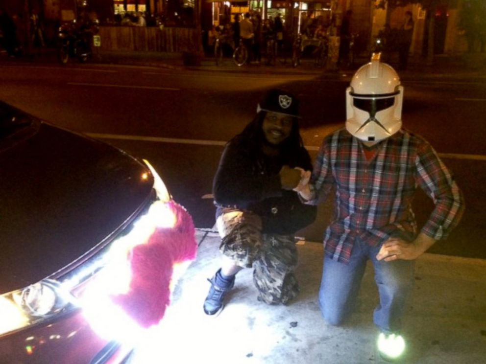 PHOTO: Hip Hop Lyft is a creative ride-share driver in the San Francisco area.