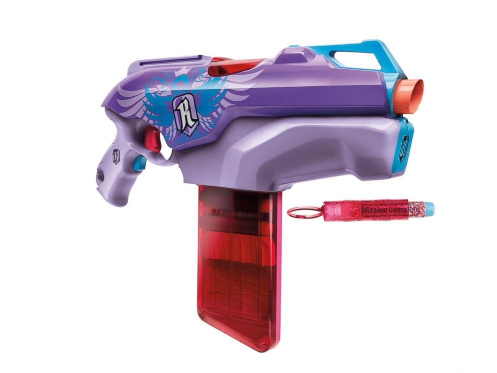 PHOTO: The Nerf Rebelle Rapid Red blaster.