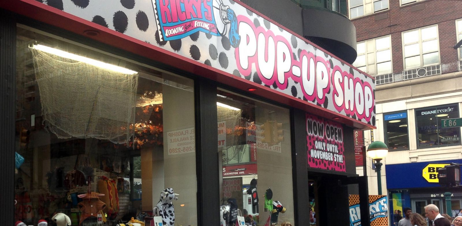 """PHOTO: New York retailer Rickys Halloween """"Pup-Up"""" shop in Manhattan, devoted exclusively to costumes for pets."""
