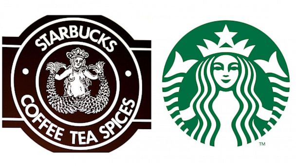 PHOTO: Starbucks logos.