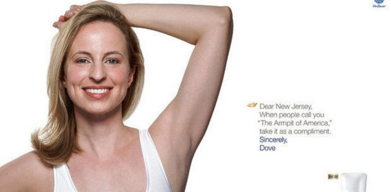 PHOTO: Dove drops Armpit of America billboard in N.J.