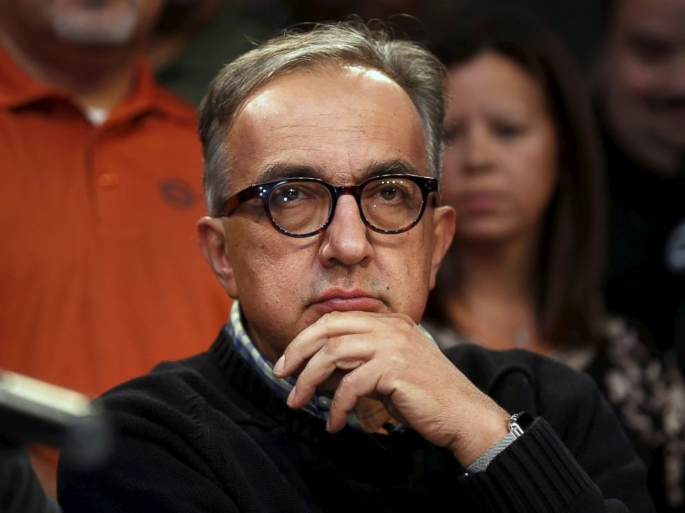 PHOTO:Fiat Chrysler Automobiles CEO Sergio Marchionne attends a news conference announcing a tentative agreement with the United Auto Workers, Sept. 15, 2015, in Detroit.