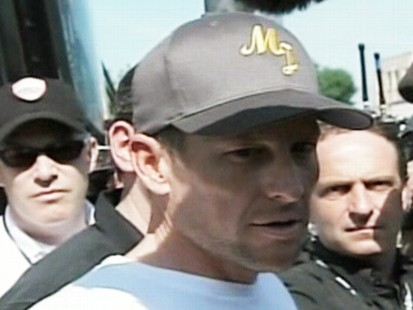 VIDEO: Lance Armstrong denies doping allegations made by cyclist Floyd Landis.