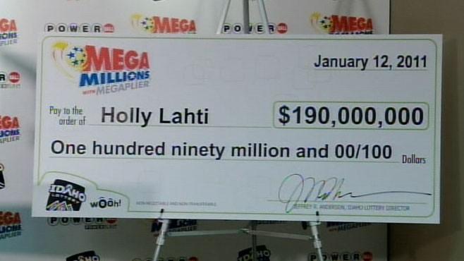 VIDEO: Holly Lahtis lotto jackpot win amounts to $190 million.