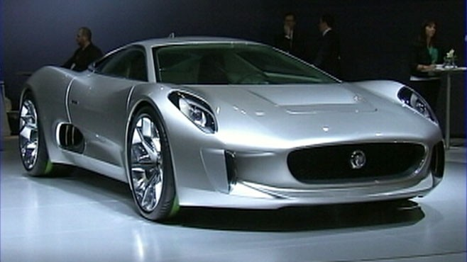 VIDEO: Jaguar unveils an electric model while Cadillac downsizes at 2010 L.A. Auto Show.