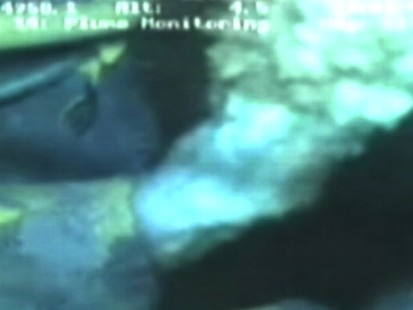 VIDEO: Tape shows underwater gusher of gas and oil.