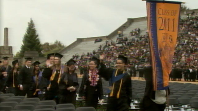 PHOTO: This years crop of new college graduates are left to face the sobering reality of a poor job market, lower salaries, and an average debt of $24,000.
