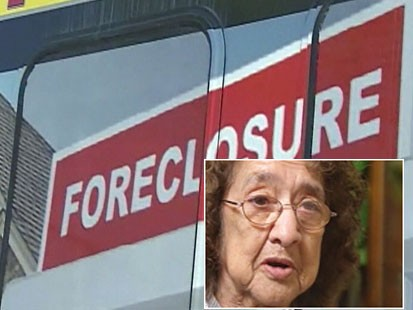 Video: Locals save woman from foreclosure.