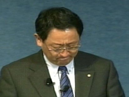 VIDEO: Akio Toyoda breaks down while addressing his employees in Washington.