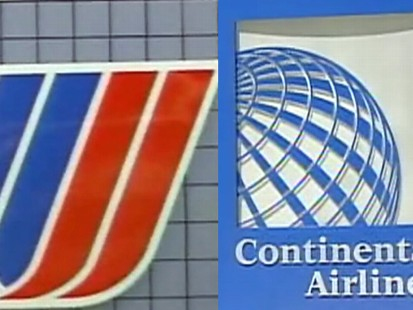 Video: Continental and United airlines consider merger.